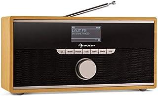 auna Weimar - Internet Radio, Digital Radio, DAB-Radio, WLAN Radio, UKW-Tuner, 10 Zender Geheugen, Bluetooth, 3,5 mm-AUX-I...