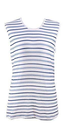 adonia mode Genial weichfließendes Slinky Top Nachtblau-Creme Gr.50
