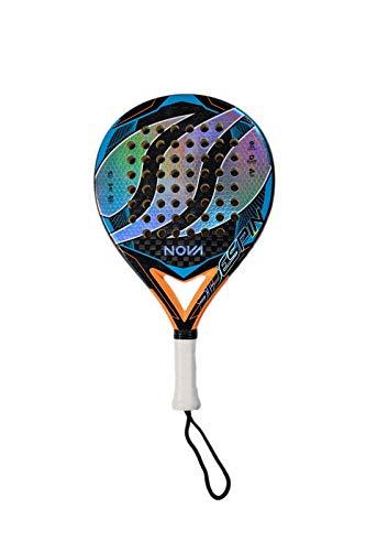 SideSpin Pala de Pádel Nova Blue Full Carbon Holograma 12K Eva Ultra Soft Texturado, Consigue Potencia + Control + Efecto