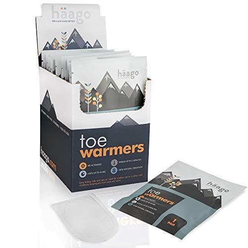 20 Paires Chauffe-Pieds Recyclables - Qualité Supérieure, 100% d'Oxydation Naturelle, Air-Activé et Prêt à l'emploi - Jusqu'à 10 Heures de Chaleur - Chaufferette Pieds pour Les Hommes et Les Femmes.