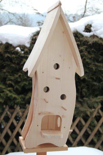 Dekorativer XXXL Nistkasten(N4) mit Vogelfutterhaus-Vogelhaus--Vogelhäuschen-sauberste Verarbeitung-Vogelhaus Garten Deko