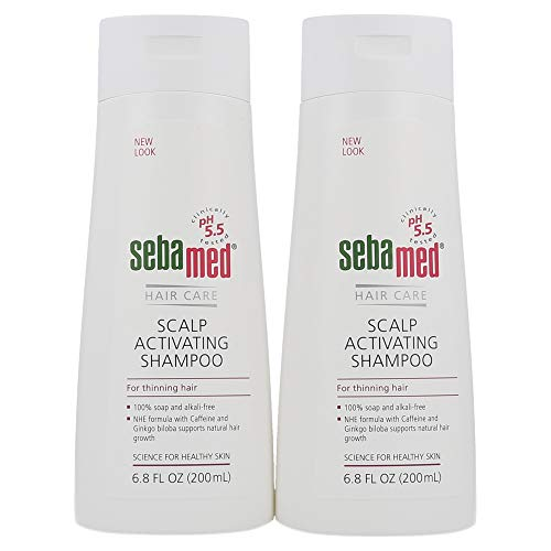 Sebamed Anti Hair Loss Scalp Activating Shampoo for Thinning Hair Supports Natural Hair Growth Helps Fight Hair Loss Dermatologist Recommended 6.8 Fluid Ounces (200 Milliliters) Pack of 2 …