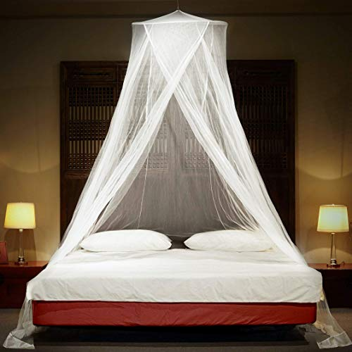 Timbuktoo Mosquito Nets Luxury Mosquito NET - for King to Single Size Beds Quick and Easy Installation System - Unique Internal Loop - 2 Entries - Ripstop Stuff Sack - No Added Chemicals.