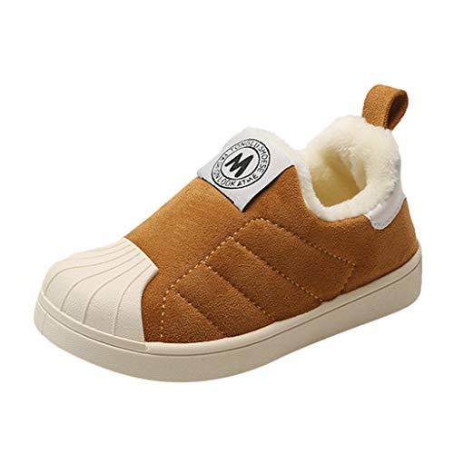 Babyschuhe Lauflernschuhe Baby Sneaker Jungen Mädchen Unisex Krabbelschuhe Kleinkind Warme Babyhausschuhe Weicher Rutschfesten mit Baumwolle Gefüttert Schuhe