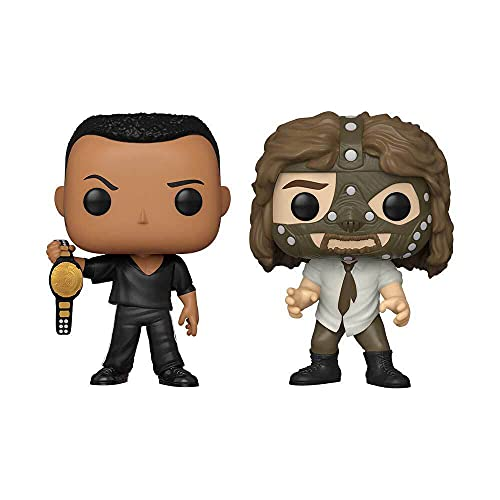 Funko POP! WWE: The Rock vs. Mankind (2 Pack) - Walmart Excl