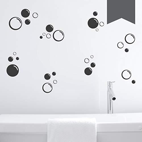 WANDKINGS Wandtattoo Seifenblasen im Set, 30 Stück Größe MEDIUM in dunkelgrau - erhältlich in 33 Farben