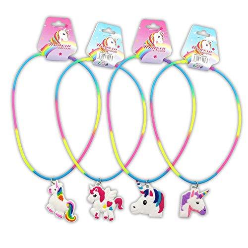Disok – Set di 24 collane a forma di unicorno per bambine Regali di bigiotteria per comunioni, compleanni e feste. Collane economiche.