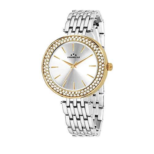 CHRONOSTAR Reloj Analógico para Mujer de Cuarzo con Correa en Acero Inoxidable R3753272503