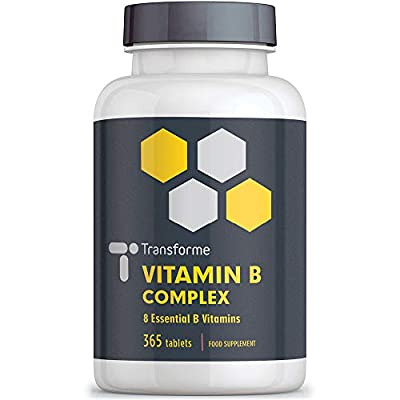 Vitamin B Complex 365 tablets (12 month supply) - Contains all Eight B Vitamins in 1 Tablet, Vitamins B1, B2, B3, B5, B6, B12, D-Biotin & Folic Acid from Save On Supplements