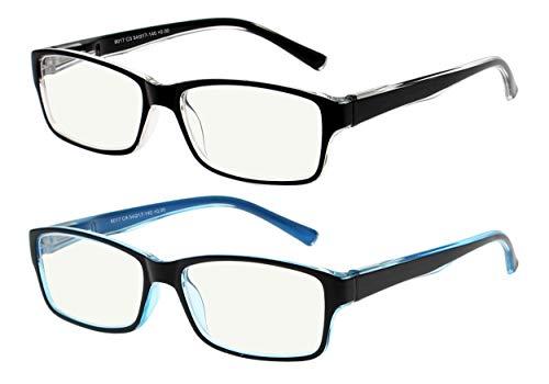 Gafas de ordenador con bloqueo de luz azul, antirreflejos que reducen la fatiga ocular para todas las pantallas y ordenadores, hombres...