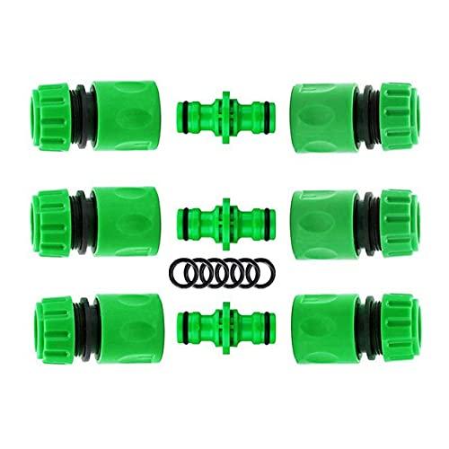 Persdico Kit de Conectores de Manguera de jardín, Grifo de tubería de riego, Conector de plástico, Adaptador, Conector de Grifo rápido