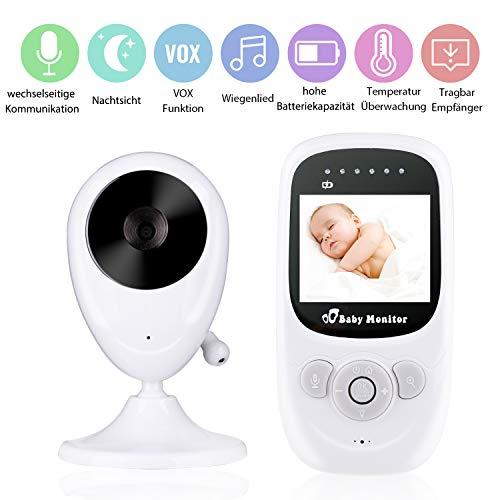Babyphone mit Kamera, Deyace Wireless Video Baby Monitor mit Digitalkamera, Nachtsicht Temperaturüberwachung & 2 Way Talkback System Babyfon (2019)