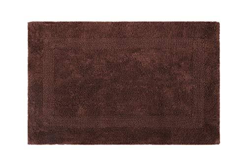 UMI. por Amazon Reversible copetudo de baño del algodón/Alfombras, SPA Vanidad Ducha Super Suave Lavable a máquina de baño/Cocina Absorbente de Agua Alfombras Dormitorio   50x80 cm   Chocolate