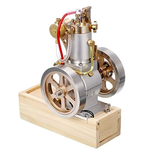 CT-Tribe Stirling Engine Model, Vertical Hit and Miss Complete Engine Model with Hand Start Device, Stem Toy and Science Engine Kit for Over 14-year-old Teenagers and Adults