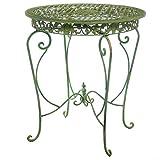 aubaho Gartentisch in hellem Creme grün Tisch Garten Eisen Antikstil Garden Table Iron