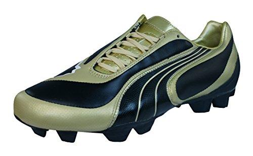 Puma V3.08 i FG Herren-Leder-Fußballschuhe-Black-43