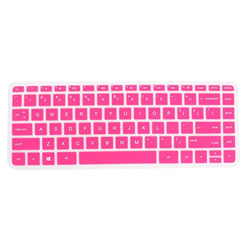 iMiMi Keyboard Cover Silicone Computer Laptop Anti Dust Protector Skin Case Toetsenbord Cover Guard Fuchsia voor HP 034, 14 Inch