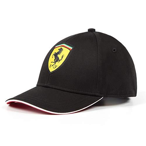 Ferrari 2018 Scuderia - Gorra de béisbol para niños, Talla única, Color Negro