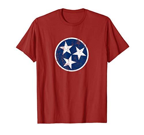 Tennessee Flag Star Logo Volunteer State Nashville T Shirt