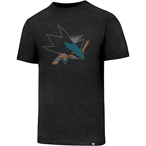 '47 Brand San Jose Sharks Club Logo NHL T-Shirt Schwarz, XXL