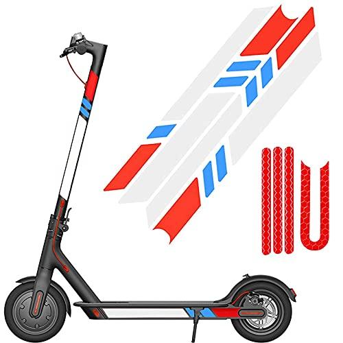 SGMY Pegatina reflectante impermeable para patinete Xiaomi Mijia, M365, E-Scooter y Ninebot Es1/Es2/Es4, accesorios para scooter eléctrico, Paquete 1