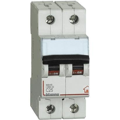 Bticino Interruttore magnetotermico 2P 25A FC820C25 4500 Btdin45