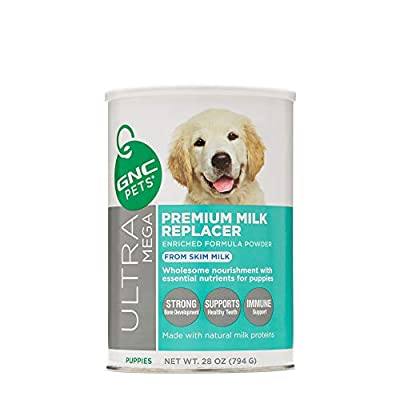 GNC Pets Ultra Mega Premium Goat's Milk Replacer Formula Powder for Puppies, 12 Ounces | Puppy Formula Made with Goat Milk