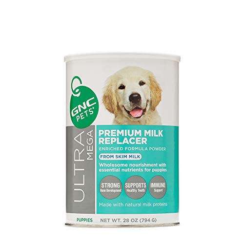 GNC Pets Premium Milk Replacer Formula Powder for Puppies, 28 Ounces Puppy Formula Made with Natural Milk Proteins to Strength and Growth
