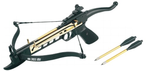 Isaazon 80lbs Pistol Self Cocking Crossbow 3 Arrows New recurve Crossbow Powerful