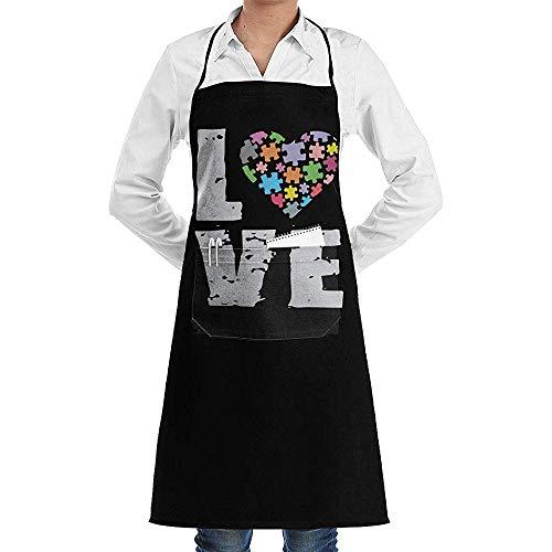 Niet van toepassing Bib Apron Liefde Puzzels Autisme Bewustzijn Crafting Print Verstelbare Keuken schorten Duurzame Bib Schort Koken Bakken Chef Met Zakken Tuinieren Bbq Vrouwen Mannen Unisex Mode Pretty
