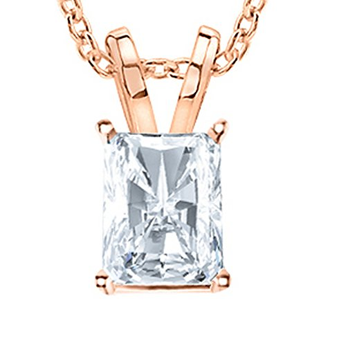 3 Carat Platinum GIA Certified Radiant Cut Diamond Pendant Necklace Ultra Premium Collection (H-I Color, VS1-VS2 Clarity) 3.0 ct 18 in gold chain