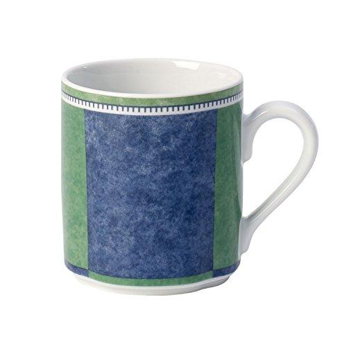 Villeroy & Boch Switch 3 Costa Kaffeebecher, 300 ml, Höhe: 9 cm, Porzellan, Weiß/Blau/Grün