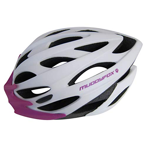 Muddyfox Helmet Protection Cycling Bicycle Bike Riding Accessories White/Purple 55-61cm