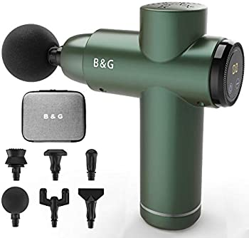 B & G Portable Deep Percussion Massage Gun with 6 Heads