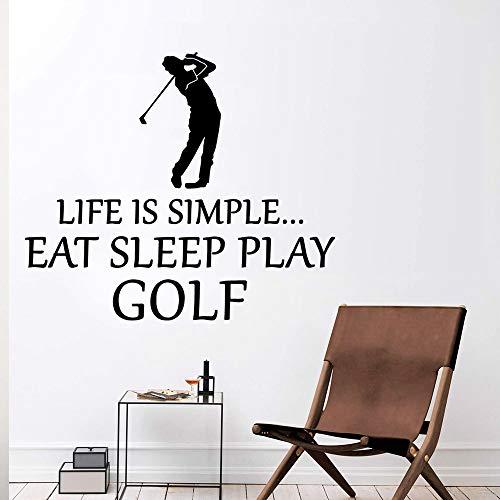 JXMK Golf Spelen DIY PVC Home Decoration Accessoires Muursticker PVC Afneembaar voor woonkamer Muurschildering slaapkamer Muursticker | Muursticker 57cm x 65cm