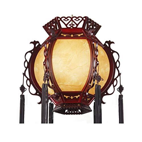 N/Z Home Equipment Pendant Light Chinese Antique Palace Lanterns Retro Classical Lantern Wooden Carved Balcony Teahouse Lamp Restaurant Interior Lighting Pendant Lights