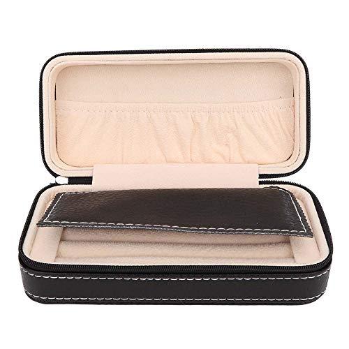 OIHODFHB Mini portátil de cuero pendientes pendientes pendientes pendientes de la oreja caja de almacenamiento de joyería titular organizador