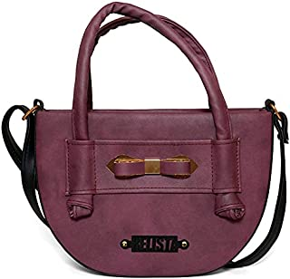 RELISTA Latest Stylish Half Moon PU Leather Women's Handbag (Purple)