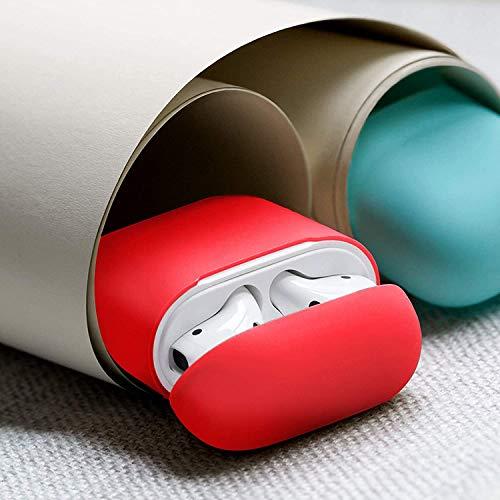 Capa Silicone Fosca Para Fone Ouvido AirPod 1 e 2 + Suporte - Danet (Vermelho)