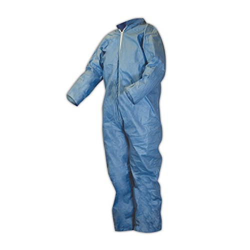 Kimberly-Clark 45316 KleenGuard A65 Flame Resistant Coveralls, 2XL, Blue, 3XL (Pack of 21)