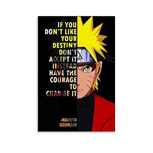 Naruto Anime Inspirational Quotes Poster
