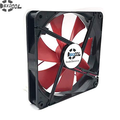 SXDOOL Best Silent Quiet 140mm pc case Cooling Fans 14cm DC 12V 4D Plug Computer Coolers