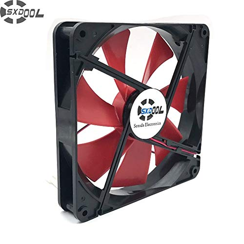SXDOOL Best Silent Quiet 140mm pc case Cooling Fans 14cm DC 12V 4D Plug Computer Coolers