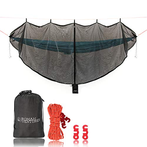 Hammock Bug Net - 12' Hammock Mosquito Net Fits All Camping Hammocks. Includes Loop For Reading...
