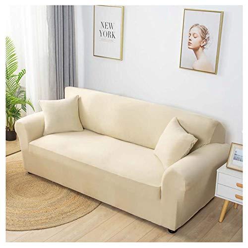Elastischer Sofa-Überwürfe Antirutsch Stretch Sofaüberzug, Sofahusse, Sofabezug, Sofa Abdeckung Hussen Für Sofa, Sessel In Verschiedene Größe Und Farbe,Gelb,2 sitzer