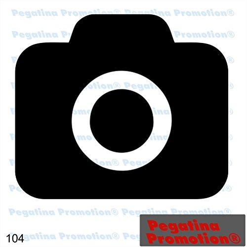 Piktogramm Typ 104 Icon Symbol Zeichen Fotoapparat Kamera Fotos Bilder fotografieren erlaubt Aufkleber Sticker ca.15cm von Pegatina Promotion® Aufkleber mit Verklebehilfe von Pegatina Promotion® ohne Hintergrund geplottet