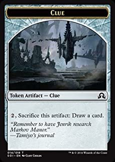 Magic The Gathering - Clue Token (Cliff Childs) (014/018) - Shadows Over Innistrad