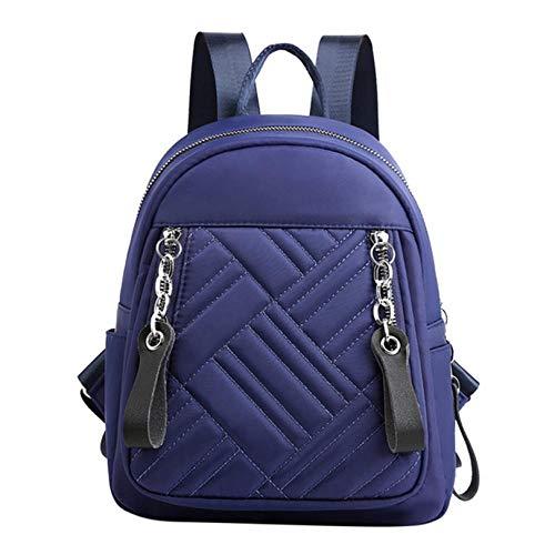 shuangklei Frauen Mini Rucksack Nylon 2019 Kette Schulranzen Reisetasche Wasserdicht Schwarz Casual Daypack Für Mädchen Rucksack Luxus Marke-D