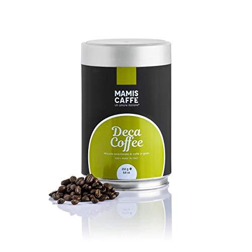 Mamis Caffè Deca Coffee 100% Arabica entkoffeinierte ganze Espresso Bohnen 250 gr