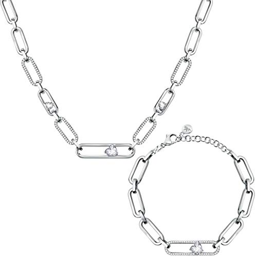 Morellato Women's Stainless steel, Crystals Necklace, 1930 Collection - SATP25